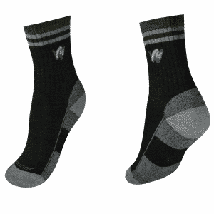 woolrior men's hiking crew socks black grey