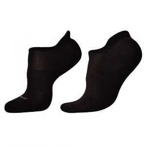 woolrior merino running socks black